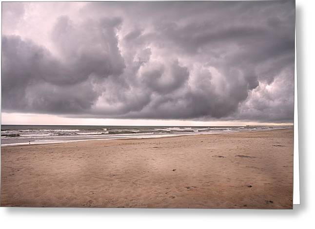 Nimbus Greeting Cards - Coastal Storm Greeting Card by Betsy A  Cutler