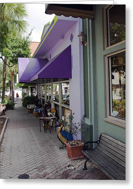 Best Sellers -  - Toy Shop Greeting Cards - Cocoa Village in Florida Greeting Card by Allan  Hughes