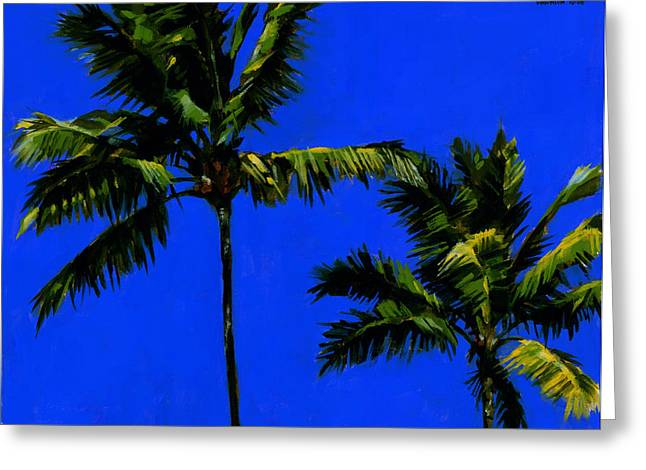 Coconut Trees Greeting Cards - Coconut Palms 3 Greeting Card by Douglas Simonson