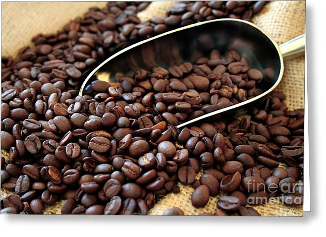 Coffee Beans Greeting Card by Darren Fisher