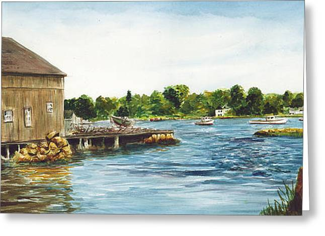 Cohasset Greeting Cards - Cohasset Harbor Greeting Card by Paul Gardner