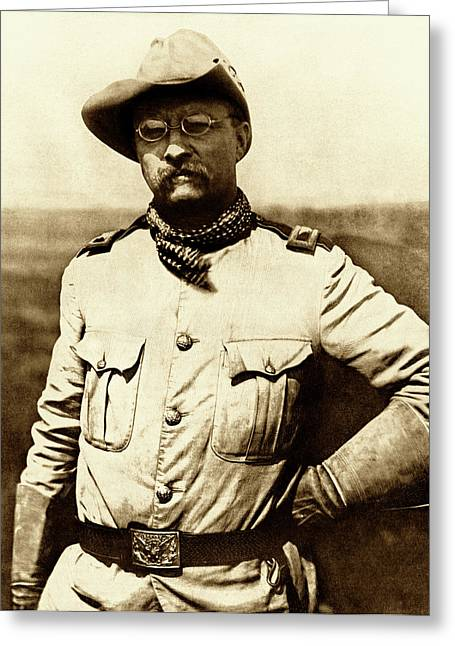 Spanish Greeting Cards - Colonel Theodore Roosevelt Greeting Card by War Is Hell Store