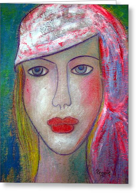 People Pastels Greeting Cards - Color me..... Greeting Card by Renate Dartois