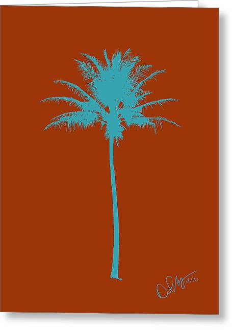 Limited Colors Greeting Cards - Color Palm 7 Greeting Card by David Paul Murray