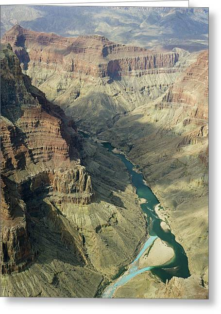 Canvas Wrap Greeting Cards - Colorado River in the grand Canyon Greeting Card by M K  Miller