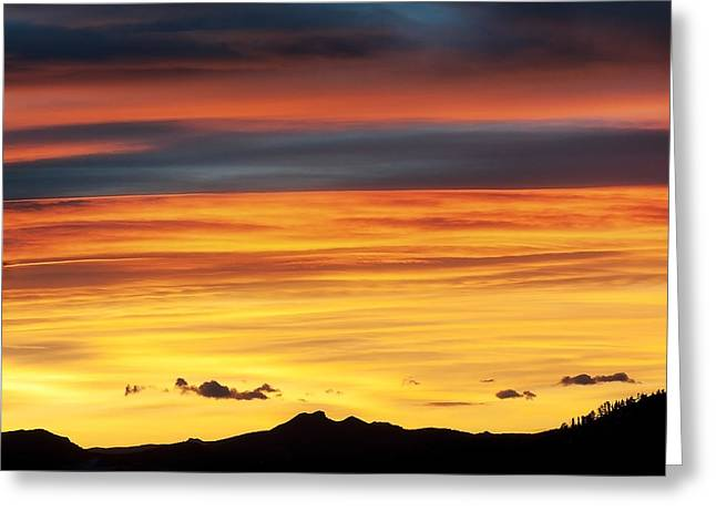 Tebow Greeting Cards - Colorado Sunrise Greeting Card by Bronze Riser