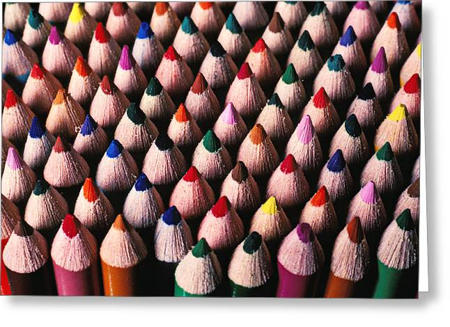 Graphite Photographs Greeting Cards - Colored pencils Greeting Card by Garry Gay