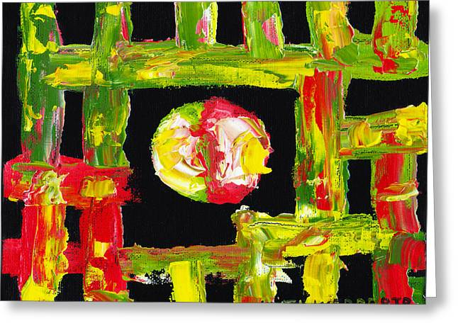 Modernism Photographs Greeting Cards - Colorful Abstract Modern art Painting Greeting Card by Keith Webber Jr