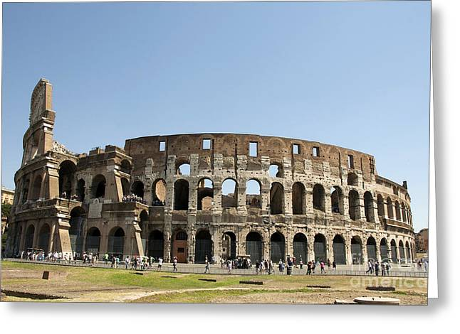 Amphitheater Greeting Cards - Colosseum. Rome Greeting Card by Bernard Jaubert