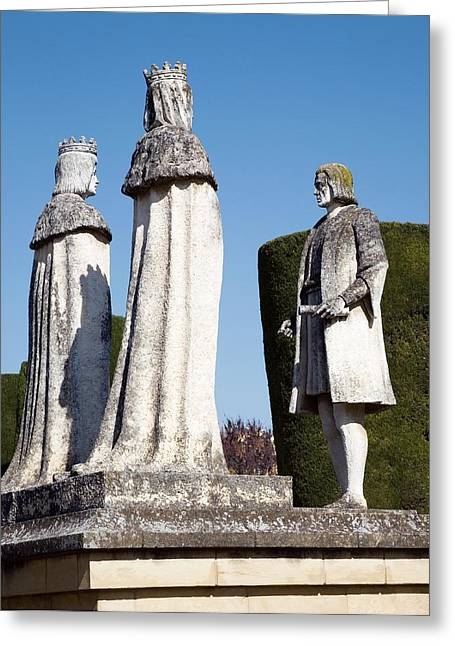 Financing Greeting Cards - Columbus Monument, Cordoba Greeting Card by Sheila Terry