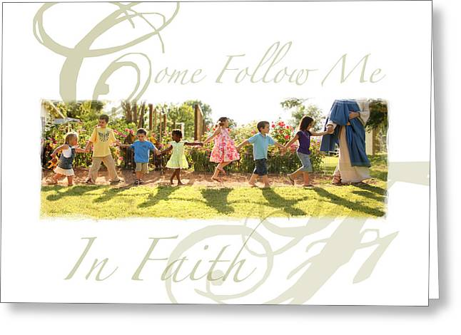 Following Jesus Greeting Cards - Come Follow Me  Greeting Card by Helen Thomas Robson