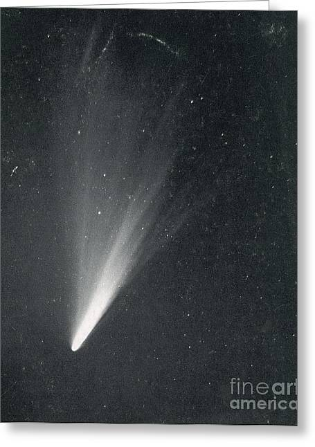 Luminous Body Greeting Cards - Comet West, 1976 Greeting Card by Science Source