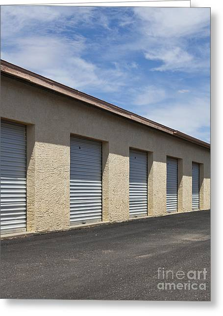 Black Top Greeting Cards - Commercial Storage Facility Greeting Card by Paul Edmondson