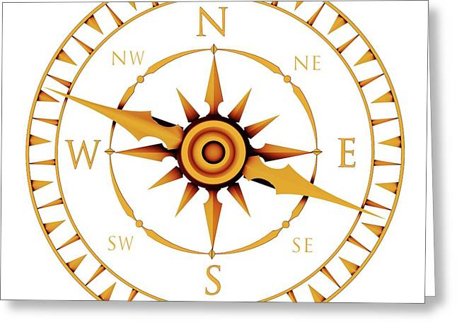 Product Photographs Greeting Cards - Compass Rose Greeting Card by Pasieka