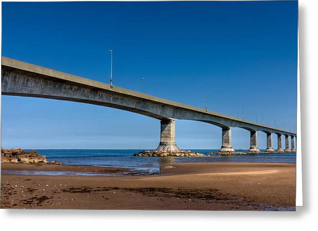 Trans-atlantic Greeting Cards - Confederation Bridge Greeting Card by Matt Dobson