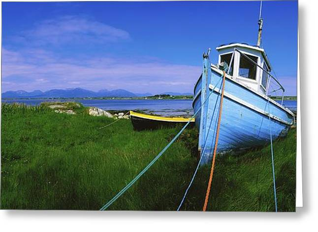 Ocean Panorama Greeting Cards - Connemara, Co Galway, Ireland Fishing Greeting Card by The Irish Image Collection