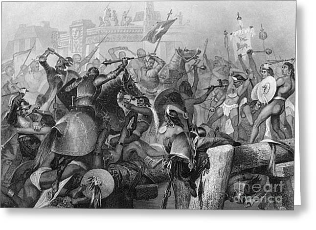 Mexico City Greeting Cards - Conquest Of Mexico, 1521 Greeting Card by Granger