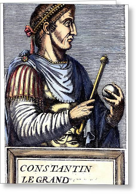 Scepter Greeting Cards - CONSTANTINE I (d. 337) Greeting Card by Granger