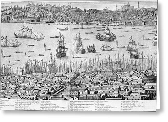 Essen Greeting Cards - Constantinople, 1713 Greeting Card by Granger