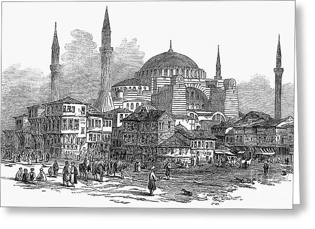 CONSTANTINOPLE: ST. SOPHIA Greeting Card by Granger