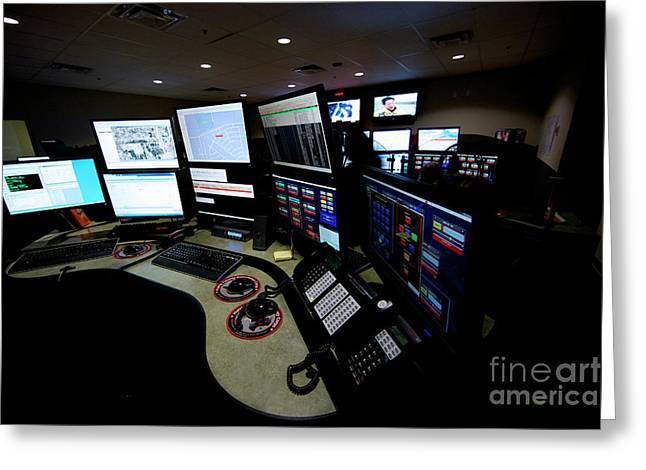 Control Center Greeting Cards - Control Room Center For Emergency Greeting Card by Terry Moore