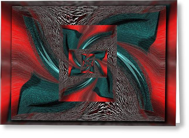 Inward Greeting Cards - Convergence Greeting Card by Tim Allen