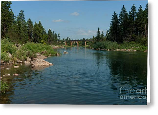 Spokane Greeting Cards - Cool Tones of Summer Greeting Card by Reflective Moment Photography And Digital Art Images