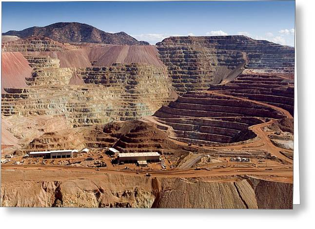 Us Open Photographs Greeting Cards - Copper Mine, Arizona, Usa Greeting Card by Arno Massee