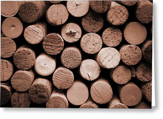 Cork Wine Greeting Card by Isabel Poulin