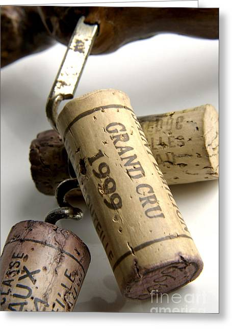 Excellent Greeting Cards - Corks of french wine Greeting Card by Bernard Jaubert