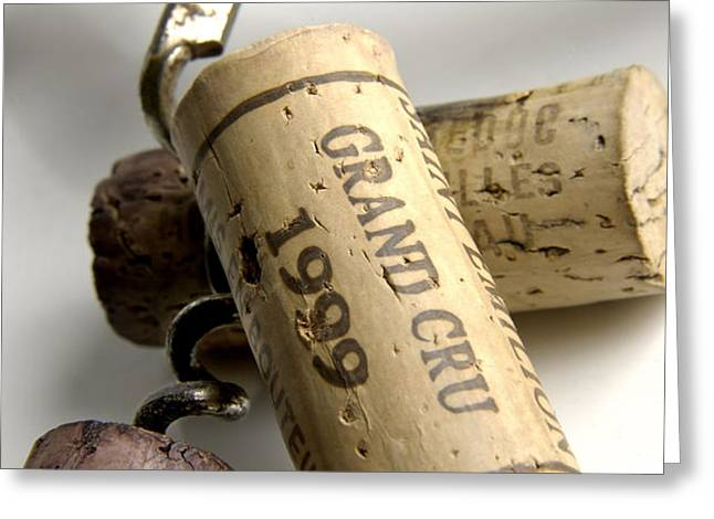 Corks of french wine Greeting Card by BERNARD JAUBERT