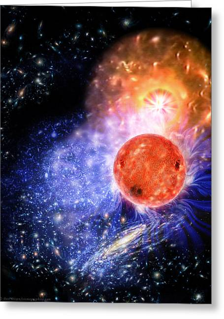 Cosmic Evolution Greeting Card by Don Dixon