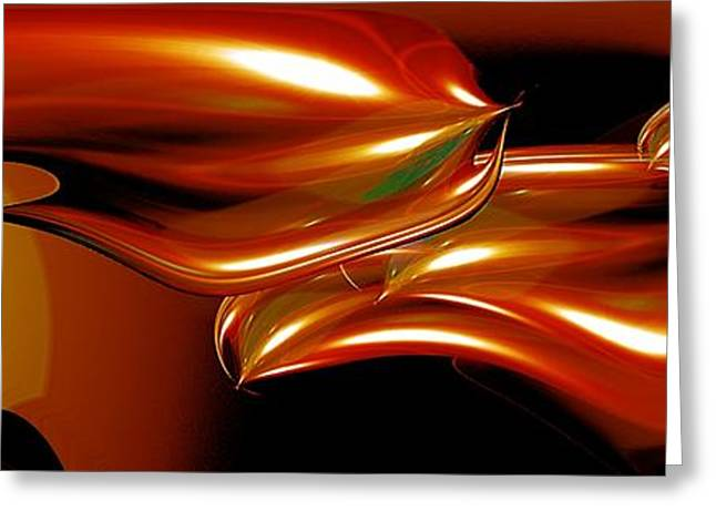 Abstract Digital Photographs Greeting Cards - Cosmic fish Greeting Card by Mike Nellums