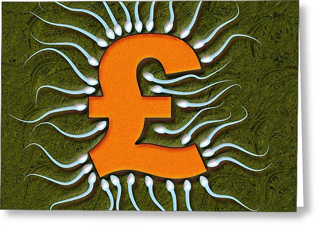 Infertility Greeting Cards - Cost Of Fertility Treatment, Artwork Greeting Card by Stephen Wood