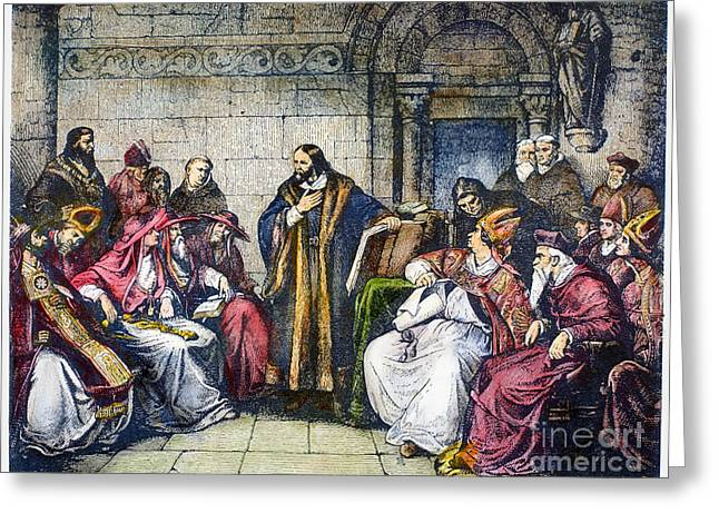 Ecumenical Greeting Cards - Council Of Constance, 1414 Greeting Card by Granger