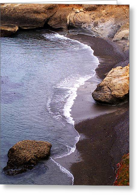 Clean Water Digital Art Greeting Cards - Cove at Pt. Lobos Greeting Card by Ron Regalado