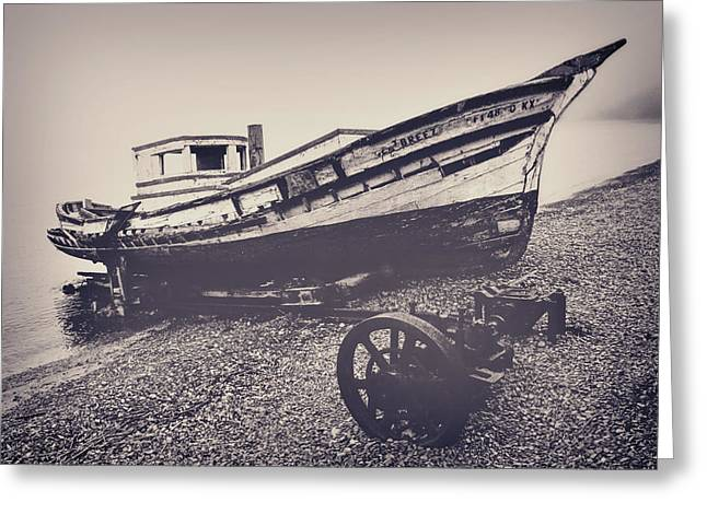 Fishing Boats Greeting Cards - Crab Boat Greeting Card by Frank Lee