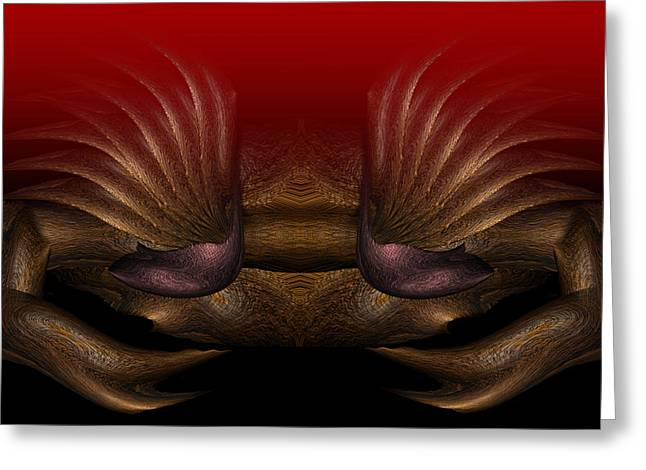 Shell Sign Paintings Greeting Cards - Crab Greeting Card by Christopher Gaston