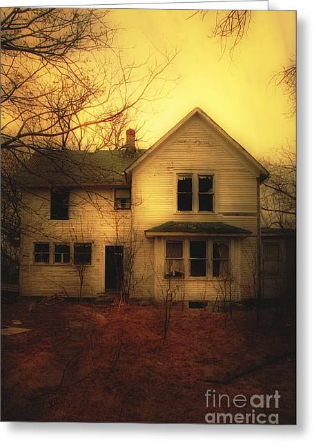 Haunted House Photographs Greeting Cards - Creepy Abandoned House Greeting Card by Jill Battaglia
