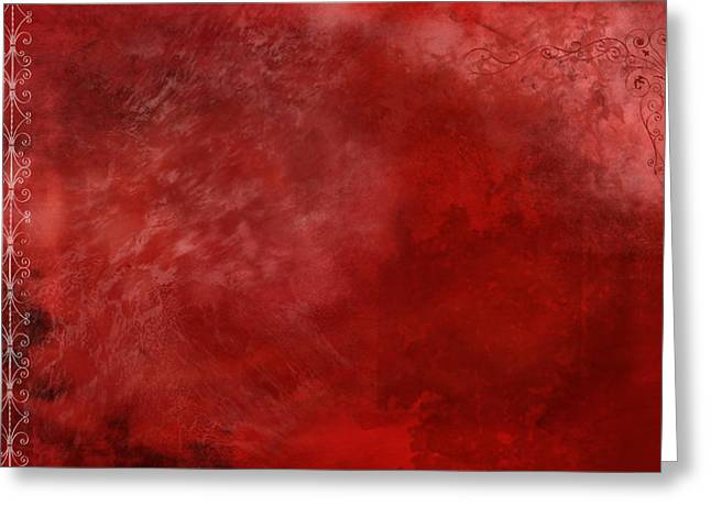 Stains Greeting Cards - Crimson China Greeting Card by Christopher Gaston
