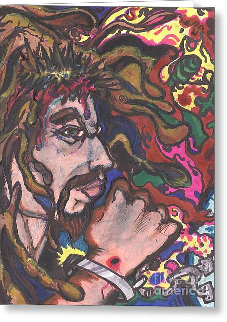 New Britain Pastels Greeting Cards - Crown of Thorns Greeting Card by Derrick Hayes
