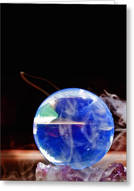 Forecast Greeting Cards - Crystal Ball Greeting Card by Jim DeLillo