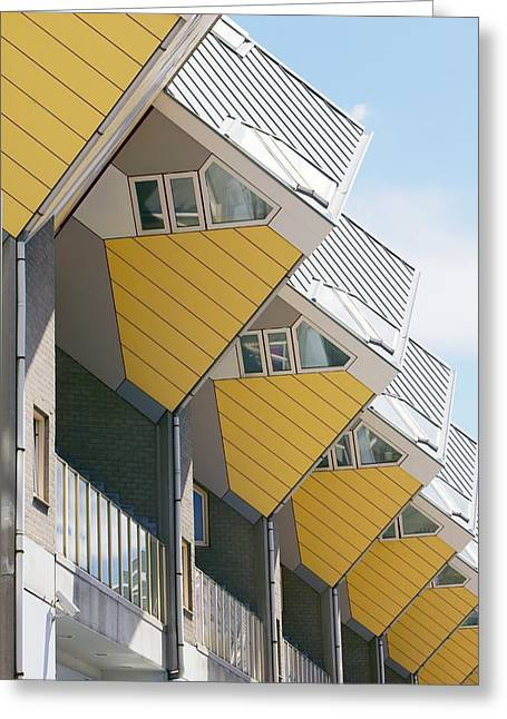 1980s Greeting Cards - Cube Houses, The Netherlands Greeting Card by Colin Cuthbert