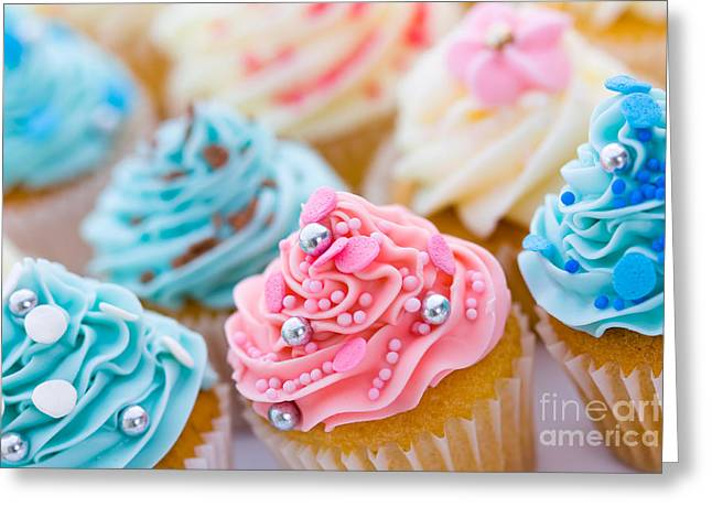 Frosting Greeting Cards - Cupcake assortment Greeting Card by Ruth Black