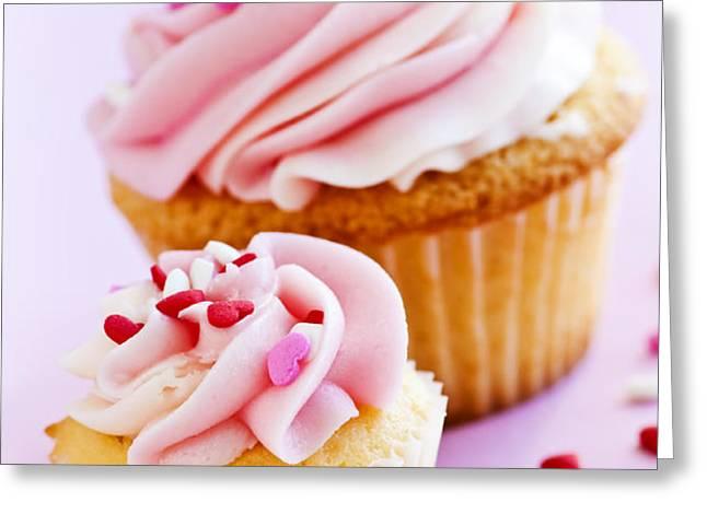Cupcakes Greeting Card by Elena Elisseeva