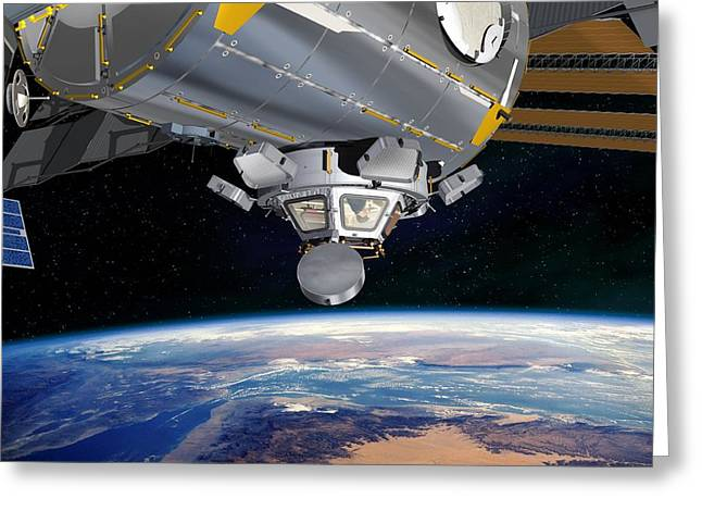 Iss Greeting Cards - Cupola Iss Module, Artwork Greeting Card by David Ducros