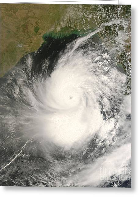 Flooding Greeting Cards - Cyclone Nargis Greeting Card by Nasa