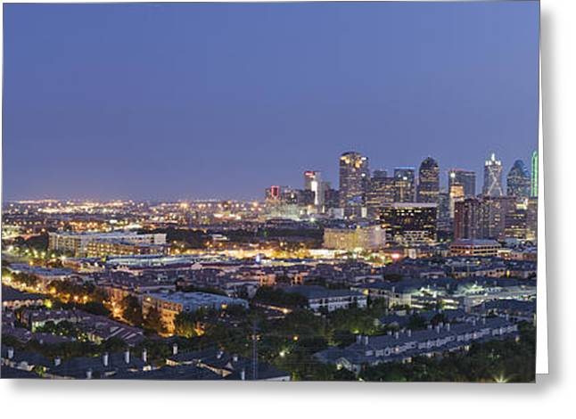 Office Space Greeting Cards - Dallas Neighborhood in the Evening Greeting Card by Jeremy Woodhouse