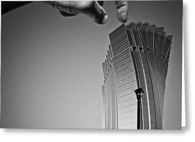 Imaginary City Greeting Cards - Damn Giants Greeting Card by Gordon Wood