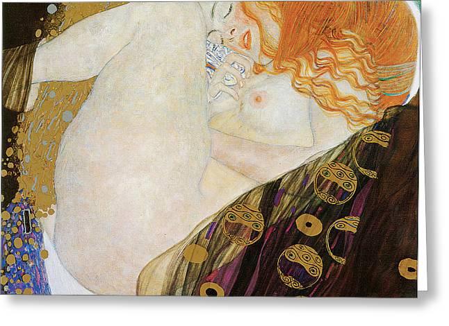 Danae Paintings Greeting Cards - Danae Greeting Card by Gustav Klimt